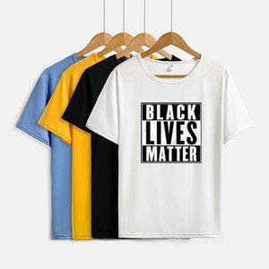 Черные Lives Matter Футболки для мужчин Женщины Пара Tee Shirt Дышащие Streetwea Короткие рукава Тис DIY пользовательских тройников T005