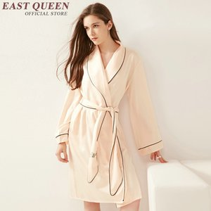 New Arrival bridesmaid robes pink home dress sexy ladies nightwear solid color long sleeve one-piece pajama 2268 YQ