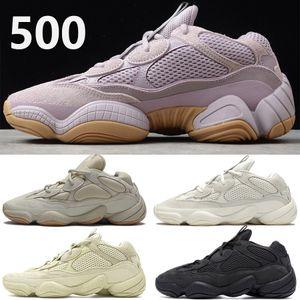 kanye west 500 hommes chaussures de course vision douce pierre blanche os utilitaire noir super lune jaune hommes réfléchissantes femmes baskets en plein air