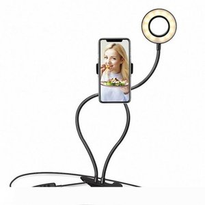Lighting Selfie Ring Light with Cell Phone Holder Stand for Live Stream Makeup LED Camera Lighting