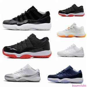 High Quality 11s mens basketball shoes Low sneakers Cap and Gown Gamma Blue Iridescent Gym Red UNC Concord Bred Trainer Sport Sneakers