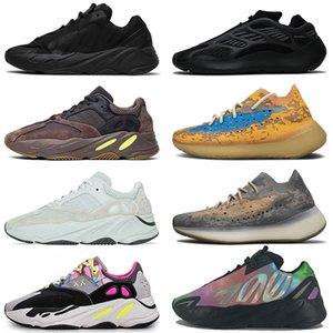 Alvah Kanye West Naranja Azul avena Sal niebla reflectantes para mujer para hombre del arco iris de los zapatos corrientes 700 púrpura Azael extranjero Deportes zapatillas de deporte para hombre de los formadores