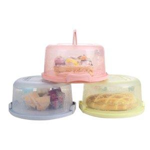 محمول الغذاء صناديق التخزين جولة كعكة مربع مع غطاء معدني تصميم مقبض كعكة تقف اللوازم أدوات المطبخ كعكة عيد ميلاد عرس حزب