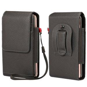 Universal Belt Clip Holster Mobile Phone Holder Litchi PU Leather Case Men Waist Bag for iPhone XS MAX XR 6 7 8 Samsung