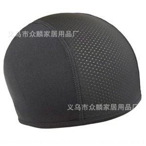 Casco interno di raffreddamento del motociclo Piccolo cappello di panno cavallo fodera piccolo panno Cap moto bicicletta testa Cap fodera