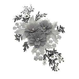 10 adet yeni Nakış Avrupa İstasyon Manuel Üç boyutlu Çiçek Nakış Kumaş Tide T İnci DIY Çiçek Dantel yama yamaları Beads