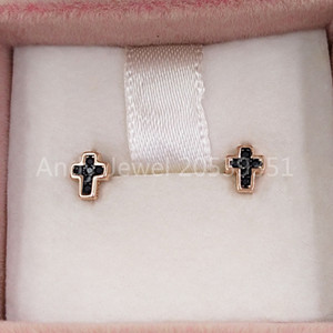 Urso jóias prata esterlina 925 brincos Motif Cruz Brincos Em Rose Gold Vermeil Com Spinels único Jóias Estilo Europeu presente 914933600