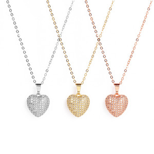 1PCS Necklace Peach Heart (Heart Shape) Female Rose Gold Pendant Clavicle Chain Fashionable Simple Party Dating Birthday Gift