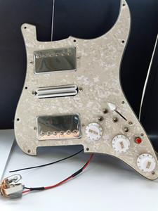 ST HSH Humbucker Guitarra Pickups guitarra Pickguard Fiação Adequado para St guitarra combinações 20 estilo