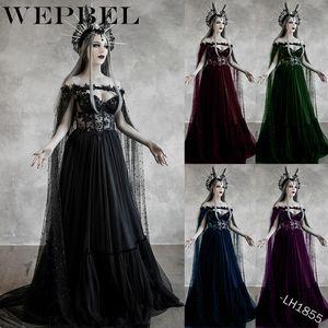 WEPBEL encaje fuera del hombro vestido de la reina cosplay del vestido maxi vestido de las mujeres del tamaño medieval renacimiento S-5XL Plus