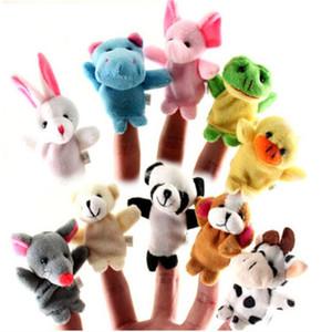 New Mix Cartoon Fingerpuppen Tier Plüschtiere Kinder Favor Puppen Frosch, Hund, Ente, rabit, Kuh, Mäuse, Pandabär 50 PC / Los