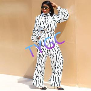 Baskı Siyam pantolon pantolon% 90 polyester Yeni Stand-yaka uzun kollu bayan tulum S-XXL Boyut bodysuit tulum
