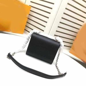 M50261 mini-torção sacos de ombro crossbody couro reais senhoras alça de corrente de alta qualidade bolsas saco de estilo clássico sacos de flor de mão