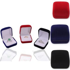 2020Factory Fashion Velvet Engagement Wedding Earring Ring Pendant Jewelry Display birthday Box Gift free shipping fashion items