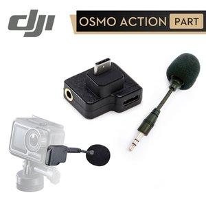 OSMO 액션 카메라 강화합니다 사운드 품질에 대한 힙 스포츠 캠코더 케이스 DJI CYNOVA 삼투압 액션 듀얼 3.5mm의 USB-C 어댑터 충전하는 동안 ...