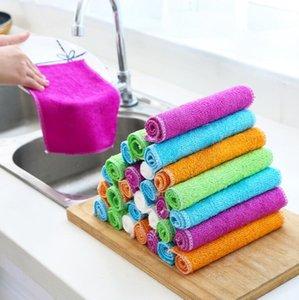 المطبخ تنظيف منشفة صحن عموم النفط البقع إزالة أدوات القماش الخيزران الألياف موقد بالوعة تنظيف زينة شحن مجاني DHD211