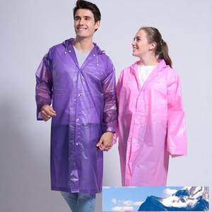 Hooded Thicken Poncho Waterproof Women Mens Rain Coat Long Wind Coat Outdoor Transparent Raincoat Fashion Portable Rainwear VT1664