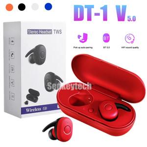 DT-1 TWS Drahtlose Kopfhörer Mini Smart Bluetooth 5.0 In-Ear-Kopfhörer mit Mikrofon Pick Up Automatische Pairing-Freisprecheinrichtung Earbuds