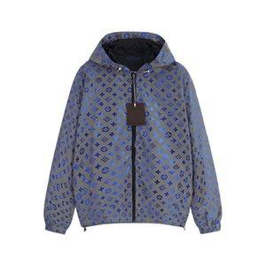 Mens Jacket Hooded Spring Autumn Coat Zipper Pocket Letters Print Fashion Style For Men And Women Windbreaker Jacket2