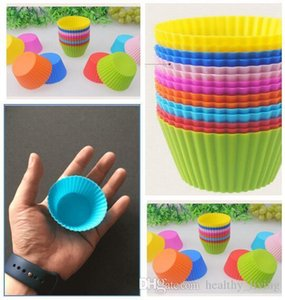 Cake Baking Molds 7cm Silicone Round Shaped Jelly Mold Silicon Cupcake Pan Muffin Cup Party Accessory Baking Cup Mold DHL Free Shipping 021
