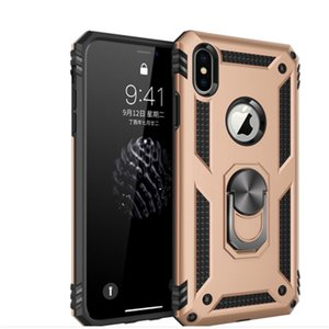 Hybrid Armor Case Magnetic Ring Stand Kickstand case For iPhone 11 pro XR 7 8 6S plus galaxy s20 S10 A50 A20