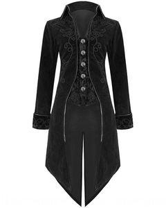 2020 new formal evening dress men's lapel dovetail stage overcoat slim evening dress