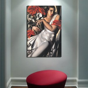 HD Prints Canvas Tamara De Lempicka Wall Art Painting Woman Modular Pictures Retro Style Home Decor Poster For Living Room Frame