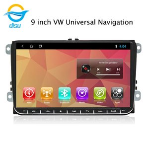 Car Radio Multimedia Video Player Navigation GPS Android 8.1 9 inch support Mirror Link For 9inch vw universal car dvd