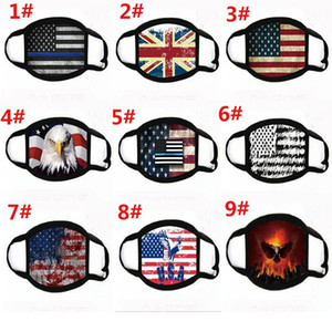 Face Masks Trump American Election Supplies Dustproof Print Mask Universal For Men And Women American Flag Mask Free Shipping DA487