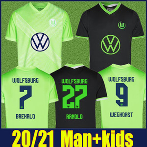 2020 2021 VfL Wolfsburg soccer jersey Home away kids kit BREKALO ROUSSILLON Soccer uniform KLAUS XAVER MALLI WEGHORST football shirts 20 21