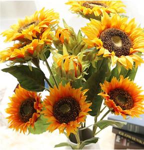 Wedding Party Flower Artificial girassol Bridal Flowers Bouquet Decorações Home Quarto Flores decorativa Artificial girassol LSK276