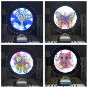 New Arrival 5D DIY Diamond Painting Kits Mirror Diamond Mosaic Picture Of Rhinestone Lamp Light Girlfriend Gift Home Decor