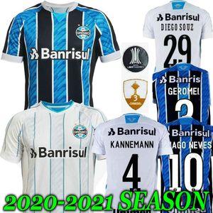 new 20 21 Gremio Paulista Soccer Jersey Gilchmei top thailand Gremio camisa de futebol GEROMEL KANNEMANN LUAN Azevedo da Silva 2020 2021