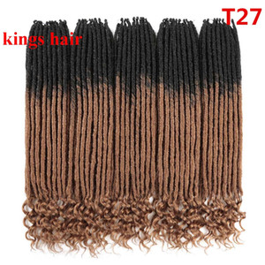 Soft Dread Locks Hair Extension Crochet Braids 20Inches 18strands pack Synthetic Brading Hair Bundles for Women