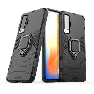 2 en 1 casos híbridos armadura soporte de timbre del teléfono Caso para Vivo X50 V19 V17 IQOO NEO S1 S5 Z6 NEX3 X30 PRO