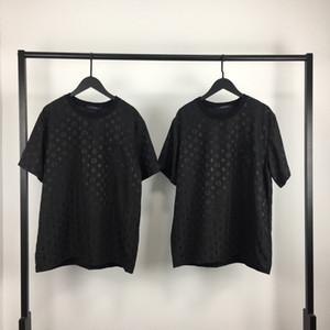 2020 francesa de moda verão confortável carta selvagem frente e verso T-shirt dos homens de designer de alta qualidade selvagem Jacquard Tee de bling