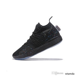 Cheap kd 11 men basketball shoes MVP Galaxy Blacks Blue White Christmas Gold Floral kids Kevin Durant xi sneakers boots with box Size 7 12