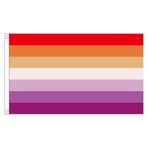 Бесплатная доставка Aerlxemrbrae Радуга флаг Лесбийская Pride флаг для украшения