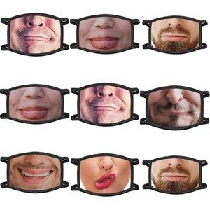 Kargo Yıkanabilir Yüz Maskesi Uk Unisex Yüz Maskeleri Pamuk Yaratıcı koruyucu maske Baskılı Hayvan Komik biZPT BDE2011 toz geçirmez Uk Maskeleri