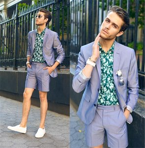 Colorful Mens Wedding Suits Two Pieces Short Pants Notched Lapel Designer Custom Made Wedding Tuxedos Two Button Gold Mens Suit
