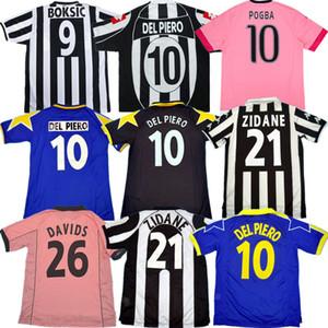 Rétro Juve Del Piero maillot de football 84 85 92 95 96 97 98 99 02 03 11 ZIDANE maillot Ancient DAVIDS chemise du plus ancien