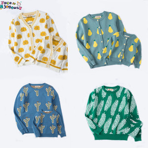Fashion Winter Children Baby Parent-child Sweater Boy Girl Mother Dad Clothes warm cotton Sweaters Cardigan Baby Jacket Coat Y200713
