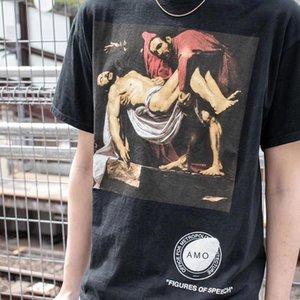 20SS amarillo amarillo Pyrex camiseta Negro Blanco Pyrex Vision colaboración Religión T Shirts 23 Impreso de Hip Hop Camiseta casual Hombres Mujeres Streetwear