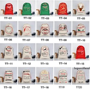 Christmas Gift Bags Large Organic Heavy Canvas Bag Santa Sack Drawstring Bag With Reindeers Santa Claus Sack Bags EEA1073