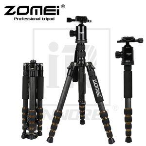 оптовые Z699C Профессиональный Carbon Fiber Tripod Kit для путешествий DSLR камеры монопод Стенд Ballhead Компактный портативный вес 1.476kg