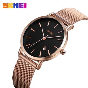 SKMEI Fashion Women Watch Casual Quartz Wristwatches Simple Style 3bar Waterproof Stainless Steel Watchband 1530