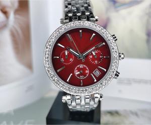 MONTRE 딜럭스 상위 브랜드 전체 기능 여성 디자이너 다이아몬드 시계 명품 여성 시계는 석영 시계 팔찌 드레스