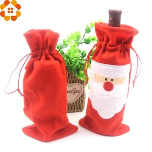 1PC Christmas Santa Claus Wine Bottle Cover Holders Gift Bags For Supplies Table Decoration Home Christmas Party xrgb#