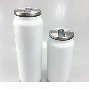 350ml Sublimation Beverages Can 500ml Personalized DIY Thermal Transfer Drinks Tumbler Stainless Steel Heat Insulation Coffee Beer Mug A09