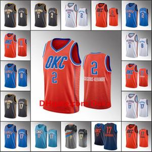 ErkeklerOklahomaCity Thunder Basketbol Jersey Shai Gilgeous-Alexander Danilo Gallinari Dennis SchröderNBA 2019-20 Formalar